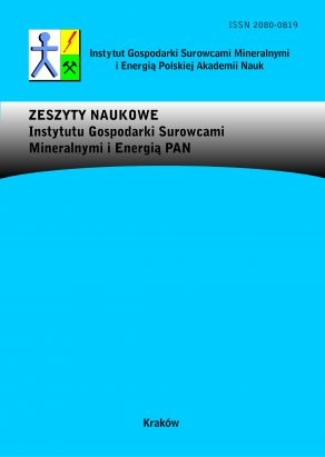 Zeszyty Naukowe Instytutu Gospodarki Surowcami Mineralnymi Polskiej Akademii Nauk – The Bulletin of The Mineral and Energy Economy Research Institute of the Polish Academy of Sciences